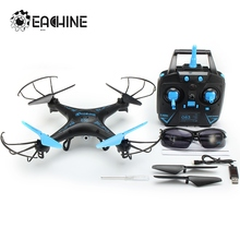 Eachine E5C With 2.0MP HD Camera 2.4G 4CH 6Axis Headless Mode One Key Return RC Quadcopter RTF With Sunglasses Toy