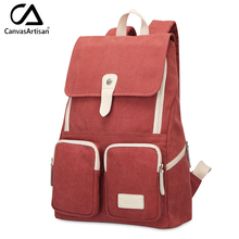 Canvasartisan brand new women canvas casual backpack fashion style large capacity top quality female travel bag backpacks(China)