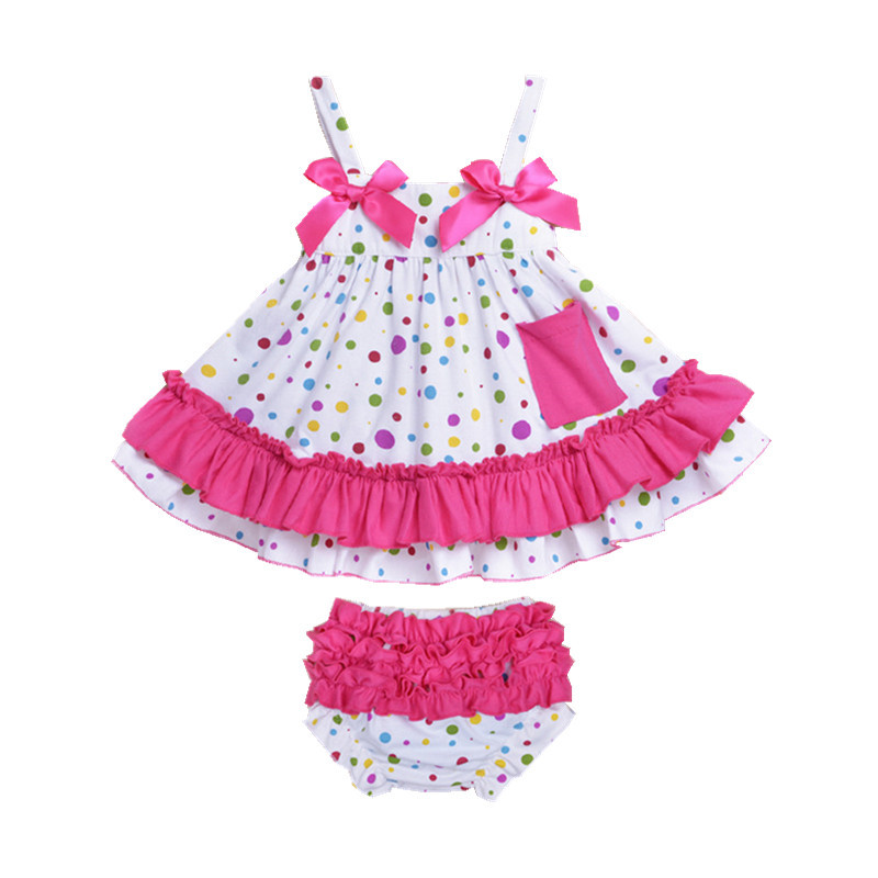 2015 New Style Baby Rompers Roupas Infantils Bebes Baby Girl Dress 2 Pieces/Lot Newborn Baby Girl Clothes Baby Clothing D-04<br><br>Aliexpress