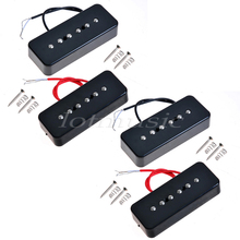 2Sets Soap Bar Pickup Black Neck Pickup Electric Guitar Pickup for Gibson P90A Replacement