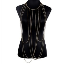 Full body chain Women Body Necklace Fashion Boho Long Necklace Sexy Punk Statement Jewelry New Arrival
