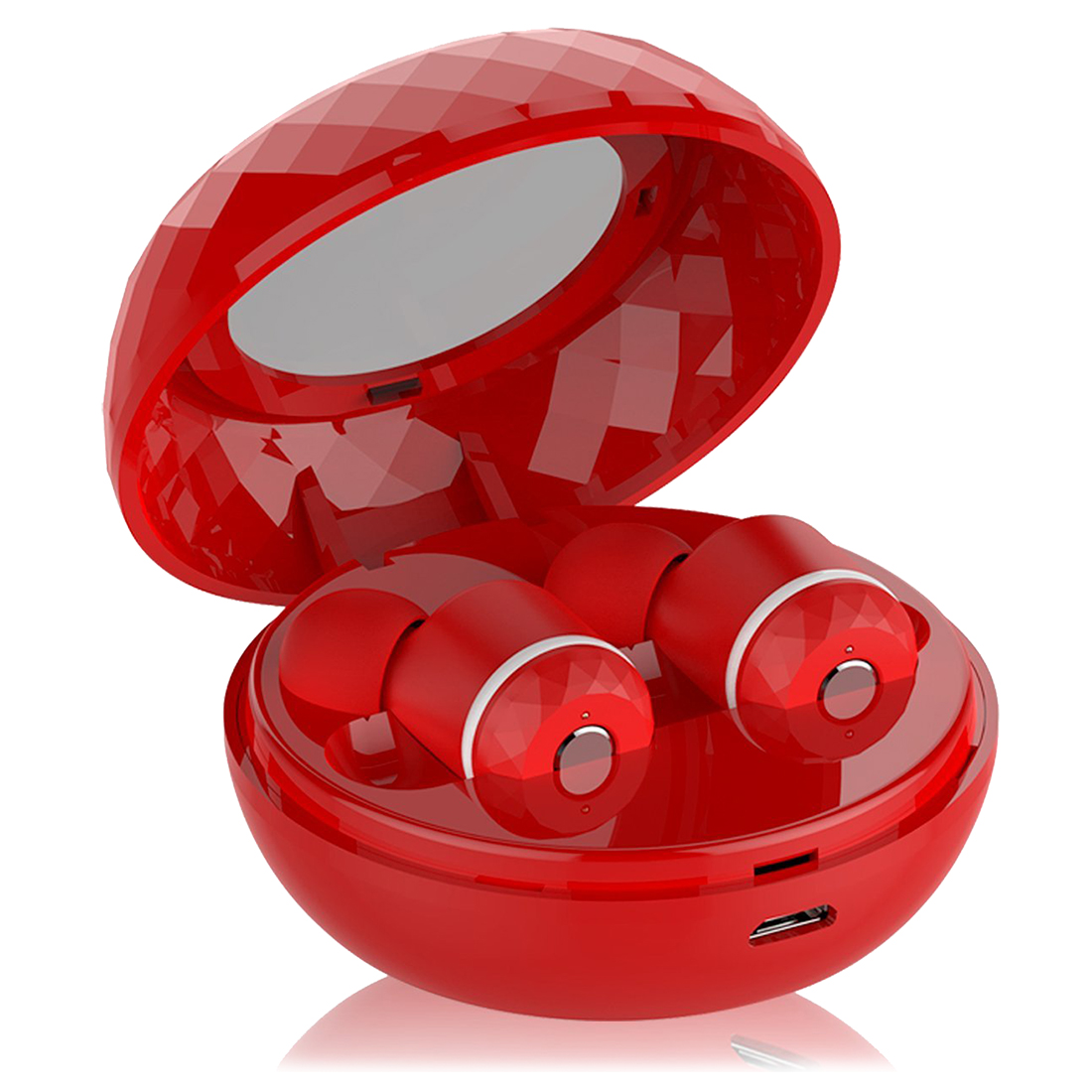 HOT-Wireless Earbuds, True Wireless Stereo Bluetooth V4.1 Headphones with Portable Charging Case &amp; Noise Reduction Earphones<br>