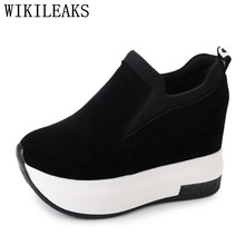 2017 height increasing womens shoes wedge platform sneakers tenis feminino shoes woman zapatillas mujer casual black red sapatos(China)