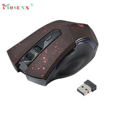 Hot-sale MOSUNX Wirless Game Mouse 2.4 GHz Wireless Optical Mini PC Laptop Notebook Gaming Mouse Mice Gifts