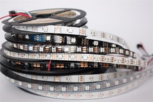 individually addressable 1m 5m waterproof ip65 ip67 5050 rgb 30 60 144 led/m 5v ws2811 ws2812 ws2812b led strip(China)