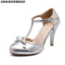 New Fashion office dress shoes Women Pumps Platform 9 cm high heel Shoes Sweet Bow work shoes