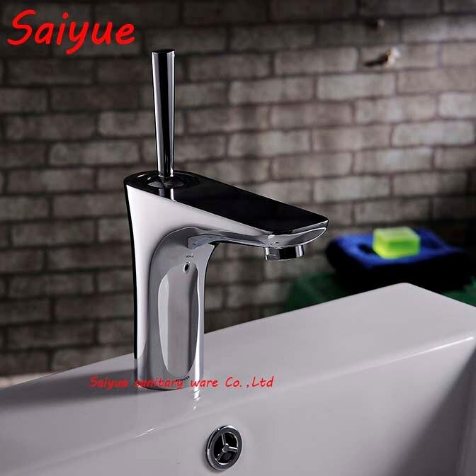 Modern Style Creative Bathroom Basin Single Handle Mixer Tap Chrome Plating Bath Sink Faucet Vessel Brass Grifo<br><br>Aliexpress