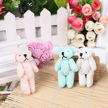 "5.1"" 10pcs Cartoon Plush Lace Cloth Teddy Bear Soft Toys Stuffed Dolls For Key chain/Bouquet/PhoneDIY garment /hat/gloves bear"
