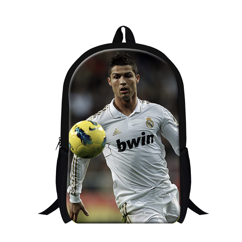 New design cool backpacks for teens,cristiano ronaldo back pack for youth travling,school bookbags for children, lightweight bag<br><br>Aliexpress