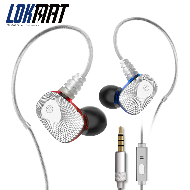 LOKMAT Wired Earphone Music In-Ear sport Microphone Headset With Mic for android ios phone Xiaomi Huawei Samsung Earphones<br>