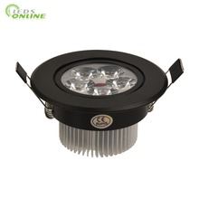 9w 12w 15w black body downlights led dimmable 110v 220v Nature Warm Pure White(China)