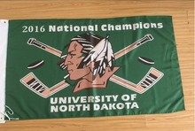 Dakota del norte lucha Sioux Logotipo del Equipo 2016 bandera nacional de campeones de Hockey 3FTX 5FT(China)