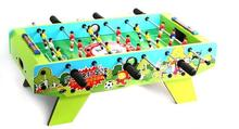 kids soccer table wooden football game table child's foostable tabletop set 27.5*14*10.6inch