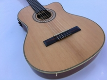 good quality thin body cutway classic guitar with turner with eq(China)