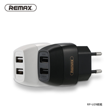 REMAX EU/UK 5V/2.1A Dual USB Charger Travel Wall Charger Adapter Fast Charging for iphone7/xiaomi/Bluetooth/USB Mobile Device(China)