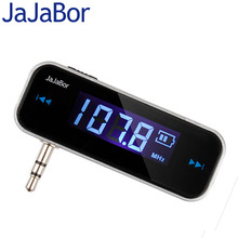 JaJaBor Car MP3 Player Mini Wireless Transmitter 3.5mm In-car Music Audio FM Transmitter Blue LCD Backlight For Cell Mobile