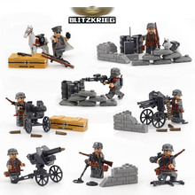 World War 2 WW2 German Blitzkrieg Assault Military War Scene Army Model Building Blocks Brick Set 71002 Toy for Boy kids