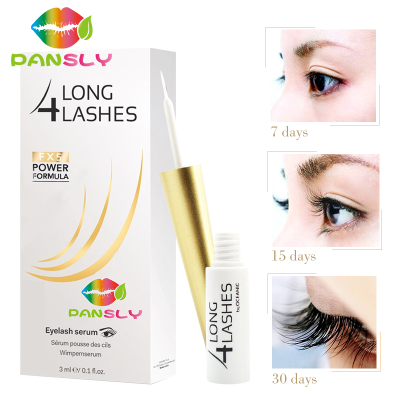 Amazing LONG 4 LASHES Eyelash Growth Serum Tratments Powerful Eyelash Extension Care Growth Long4lashes Lengthening Liquid 3ml<br>