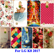 AKABEILA Rose Peony Flower Cases Covers Cell Phone Shell Hood For LG K8 2017 X300 M200N LG LV3 Aristo MS210 USA Version Bags(China)