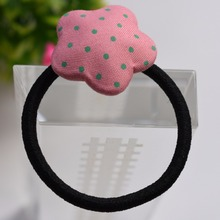 Korean Flower Heart Elastic Scrunchies Hair Band Dot Hello Kitty Hair Accessories Cute Women Kids Girl Baby Hair Ties 4PCS/Lot