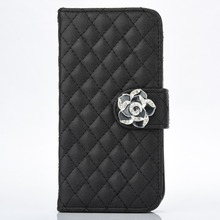 50pcs/lot Free shipping Lambskin camellia 3 card+photo frame housing leather new design cover case for iphone X skin cover case(China)