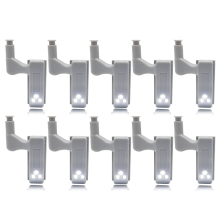 10pcs LED Furniture Cabinet Hinge Light Induction Cupboard Closet Wardrobe Night Lamp Home Kitchen Bedroom Living Room Lighting(China)