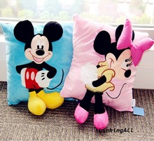New 3D Mickey Mouse and Minnie Mouse Kawaii Plush Pillow Donald Duck Daisy Goofy Pluto Dog Kids Toys Totoro Plush