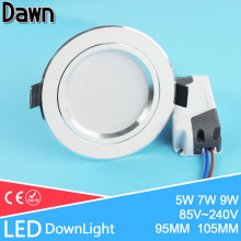 Soft Light 110~220v Thin LED Downlight 5w 7w 9w Showcase Light Brand Round Ceiling Recessed Light Cabinet Wall Down Lamp Kitchen