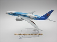 16cm Alloy Metal Air China Southern Airlines Plane Model Boeing 787 B787 Airways Aircraft Airplane Model W Stand  Gift