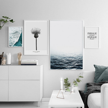 Modern Posters And Prints Blue Sea Wall Art Canvas Painting Wall Pictures For Living Room Nordic Decoration No Poster Frame