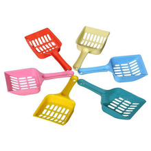 Plastic Pet Dog Puppy Cat Litter Scoop Sand Waste Scooper Cleaning Clean Tool Randomly For Small Puppy(China)