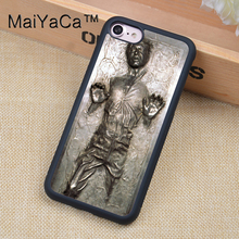 MaiYaCa Star Wars Han Solo Frozen in Carbonite Soft Rubber Case Cover For iPhone 6 6S Plus 7 7Plus 5 5S SE 4S Mobile phone bag(China)