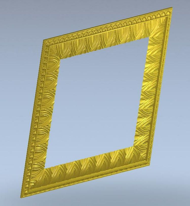 3d model simple border frame relief for cnc machine in STL file format--1(China (Mainland))