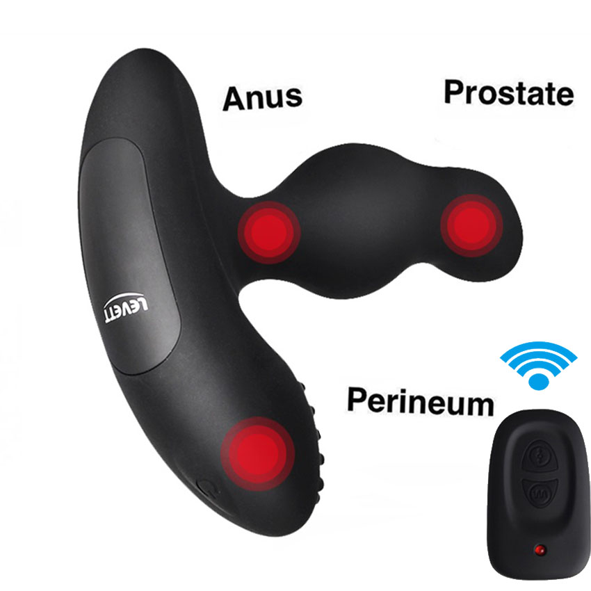 Levett 360 Degree Rotating Rechargeable Machine grade Rotation plug prostate Anal vibrator Sex toys for Male Sex products<br>