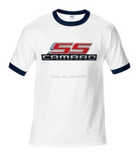 Camaro Ss Logo Shirts Chevrolet Chevy Men Cotton High Quality O-neck T Shirt Tees Tops Man Fashion Casual T-shirts