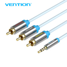 Vention 2.5mm Jack to 3 RCA Cable Metal Shell 1.5m 2m Jack 2.5mm to AV Converter Cable Video Cable For Android TV Box(China)
