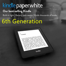 Brand New Kindle Paperwhite 6 Generation E-book reader Built in Light 6 Inch 4GB Ebook Reader E-ink Ereader