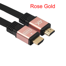 Gold Plated HDMI Flat Cable HDMI 2.0 (4K x 2K) High Speed Ethernet Support Video 4K 2160p HD 1080p 3D 1m 1.8m 3m 5m 10m(China)