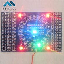 DIY Kit SMD Rotating Flashing LED Components Soldering Practice Board Skill Electronic Circuit Training Suite 90x60x1.6mm