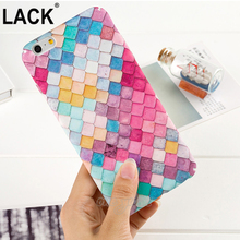 LACK Beautiful Rainbow Scales Case For iphone 6 Phone Cases colorful diamond For iphone 6S 6 Plus full protection Hard PC Capa(China)