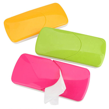 QuickDone Creative Candy Color Car Sun Visor Plastic Tissue Box Slide Cover Paper Napkin Holder Clip HG0543(China)