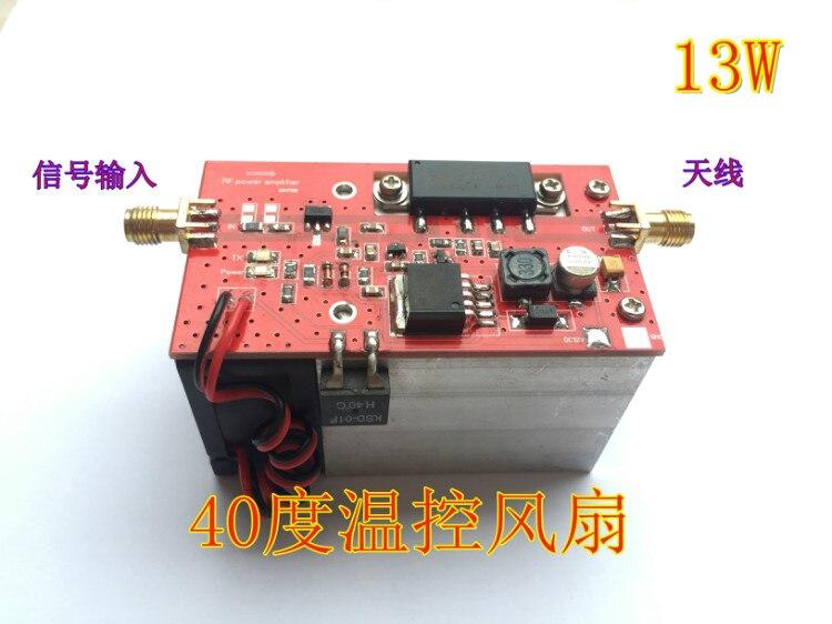 433MHZ 350-480MHZ 13W UHF RF Radio Power Amplifier AMP DMR heatsink
