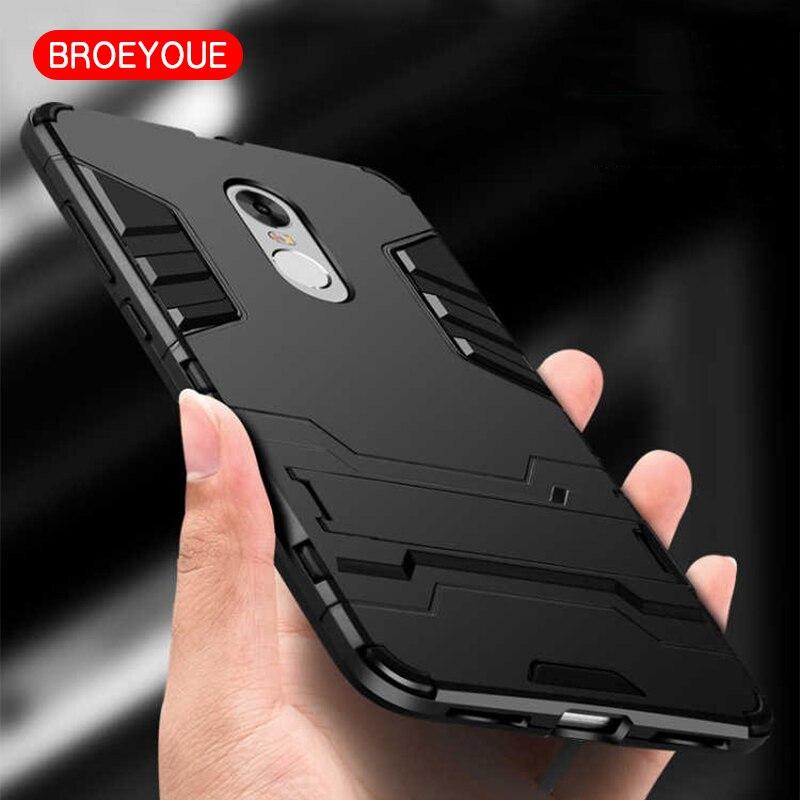 BROEYOUE Armor Coque Xiaomi Redmi Note 4X Mi 5S Mi6 MAX 2 Case Hybrid Silicone Hard Iron Man Rubber Slim Protective Cover