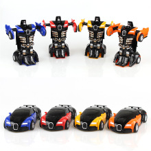 New 4 colors 12cm Robocar Crash Auto transformation Robots Car model Classic Toys Action Figure Boy toys Music car model(China)