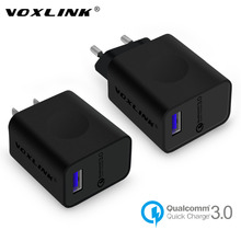 [Qualcomm Certified] VOXLINK Quick Charge 3.0 18W USB Turbo Wall Fast Travel Charger For iPhone 7 6s plus Samsung S6 Edge Nexus6(China)