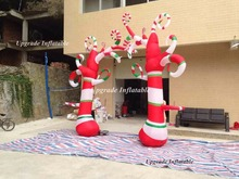 2016 new design large flower shape candy cane inflatable cheap inflatable Christmas flower tree for yard decoration