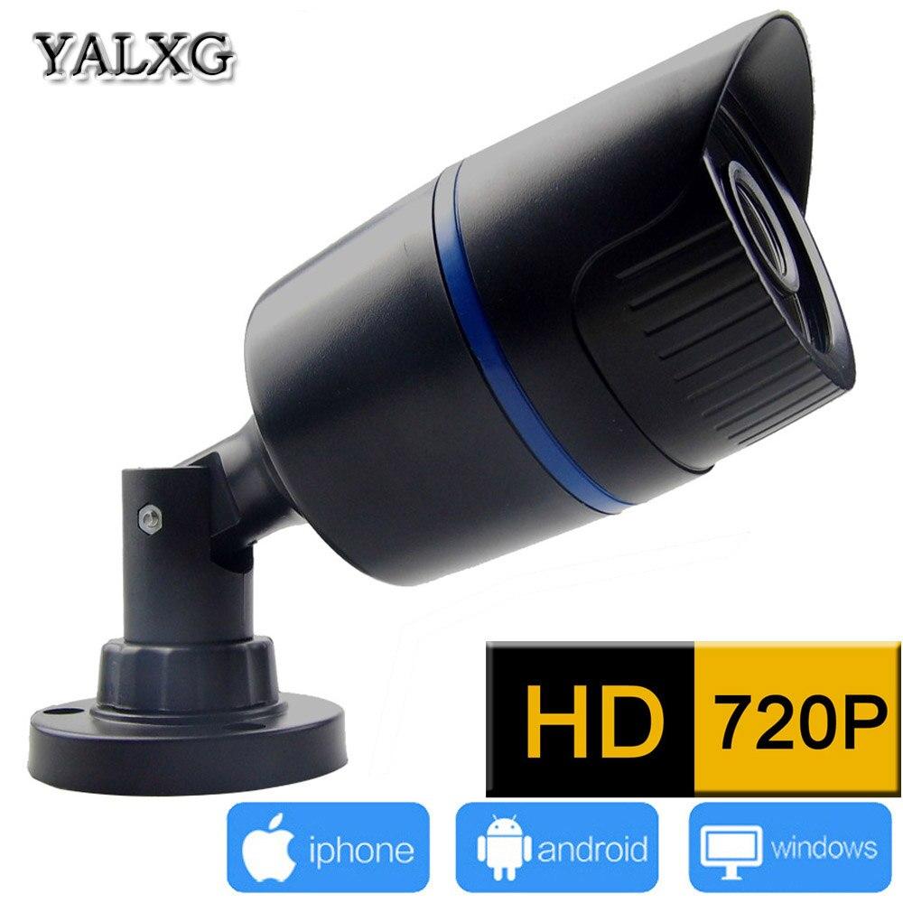 Yalxg Home Security Alarm System 720P/960P HD Mini IP 24LED IR-Cut Night Vision Waterproof Camera P2P ONVIF H.264 NVR<br>