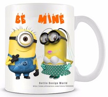 Be mine Minion funny novelty travel mug Ceramic white coffee tea milk cup Personalized Birthday Easter Valentines gifts