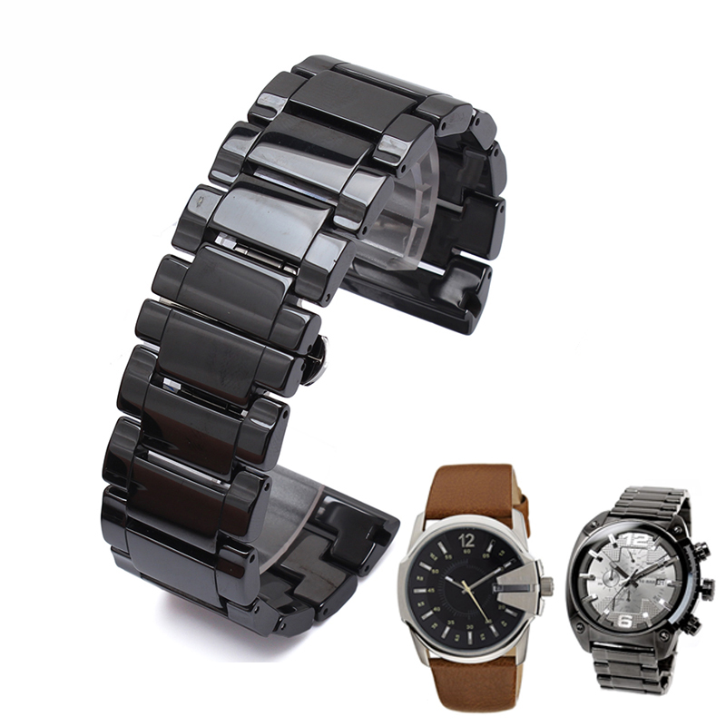 New High quality Ceramic watchband 30mm Black | Blue strap for DZ free shipping <br><br>Aliexpress