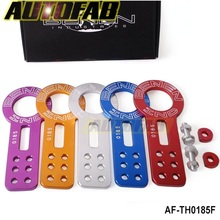AUTOFAB -Anodized Universal Front Tow Hook Billet Aluminum Towing Kit For JDM Racing AF-TH0185F